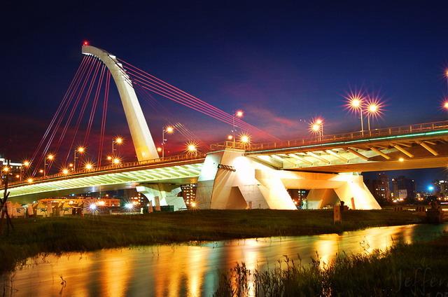 夜拍大直橋