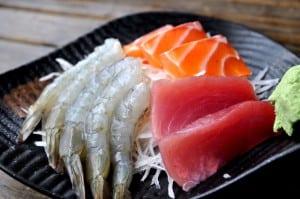 二訪金泰食品-甜蝦定食、烤鯖魚定食