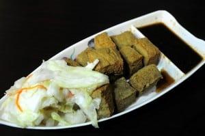一吃獨秀,超好吃的綠色臭豆腐