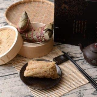 上海鄉村餐廳雪蓮子干貝厚粽