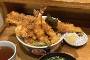 2018東京的金子半之助炸蝦天丼強過台灣的金子半之助多少?