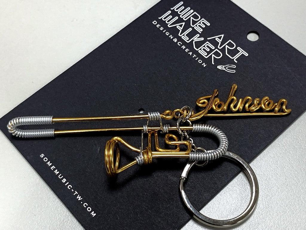 三木藝術鋁行者工作室 超可愛精緻樂器吊飾 還可以訂做名字
