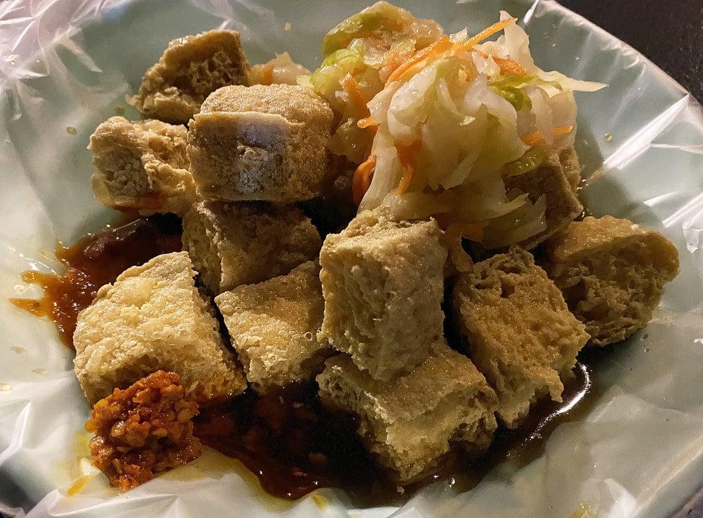 師大分部臭豆腐 一週只賣兩個半夜的超人氣美食