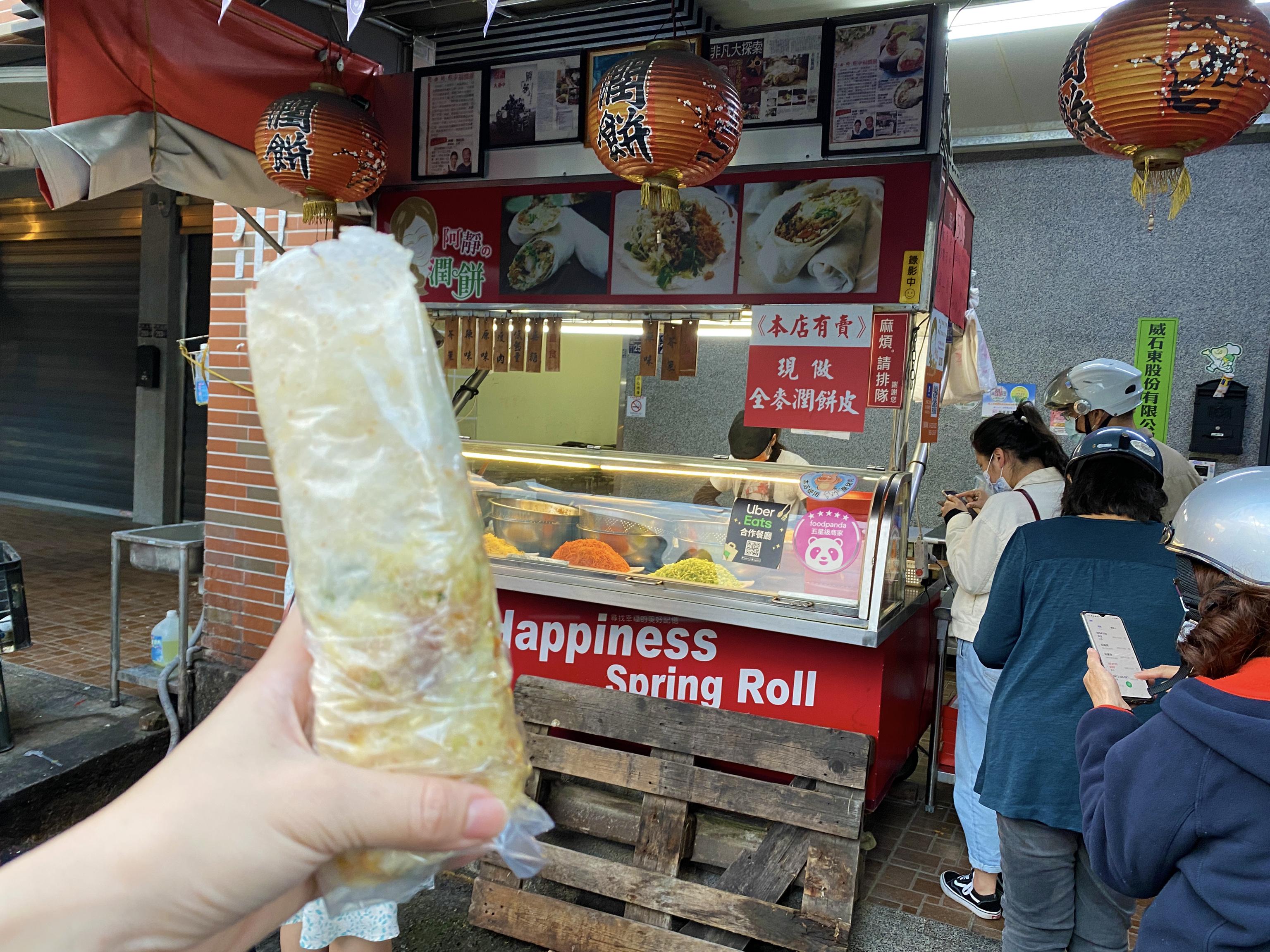 阿靜潤餅 台中第二市場柳川美食推薦 超大超好吃春捲